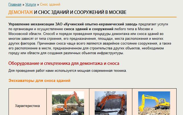 типовая страница сайта r-um.ru после переработки
